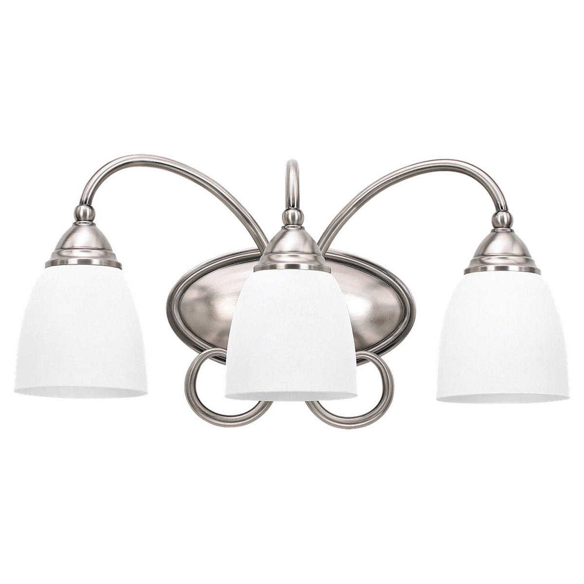 Sea Gull Lighting Montclaire 3 Light Bath Vanity in Antique Brushed Nickel 44106-965