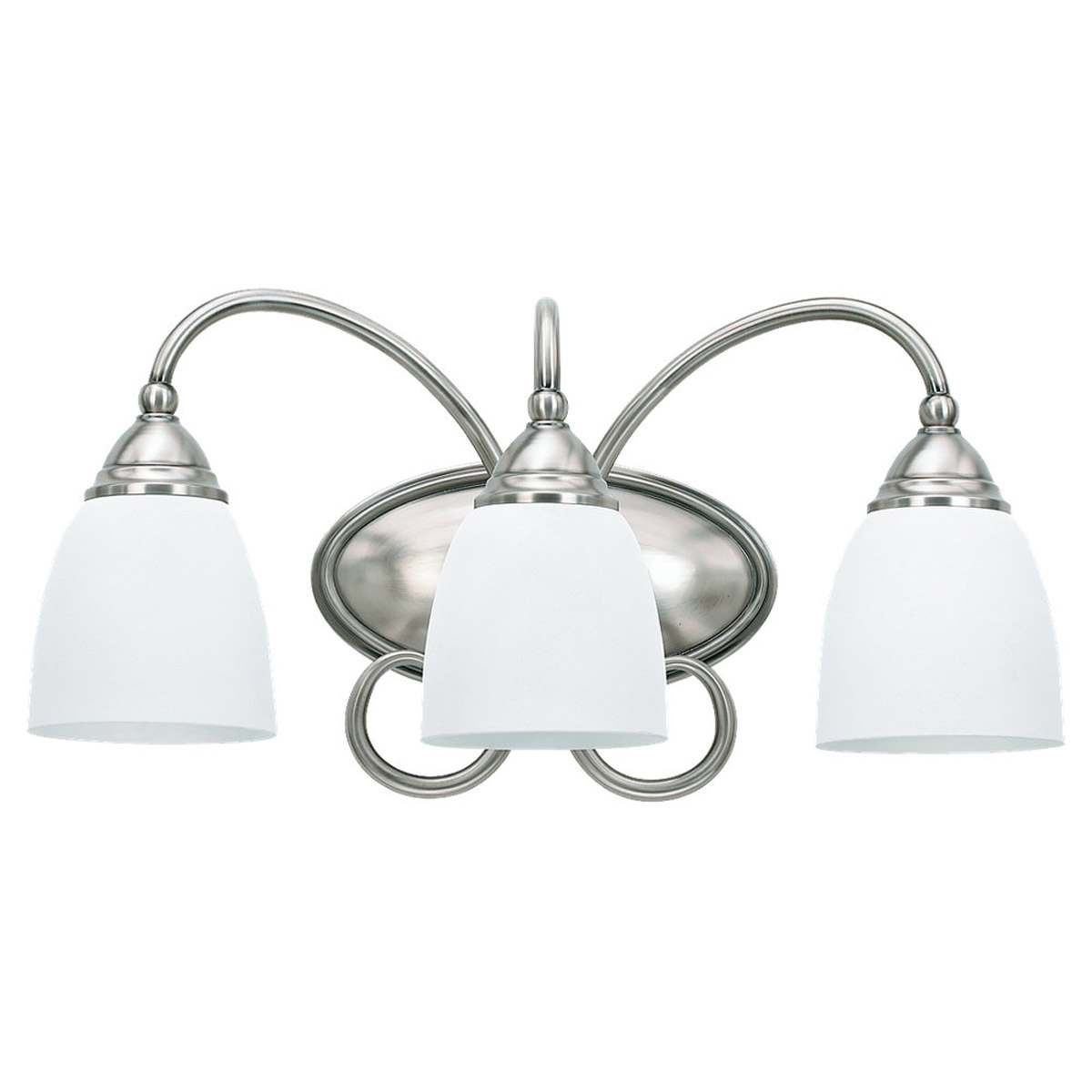 Sea Gull Lighting Montclaire 3 Light Bath Vanity in Antique Brushed Nickel 44106BLE-965