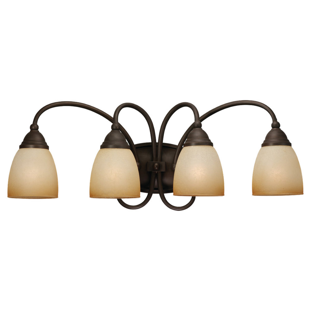 Sea Gull Lighting Montclaire 4 Light Bath Vanity in Olde Iron 44107BLE-72