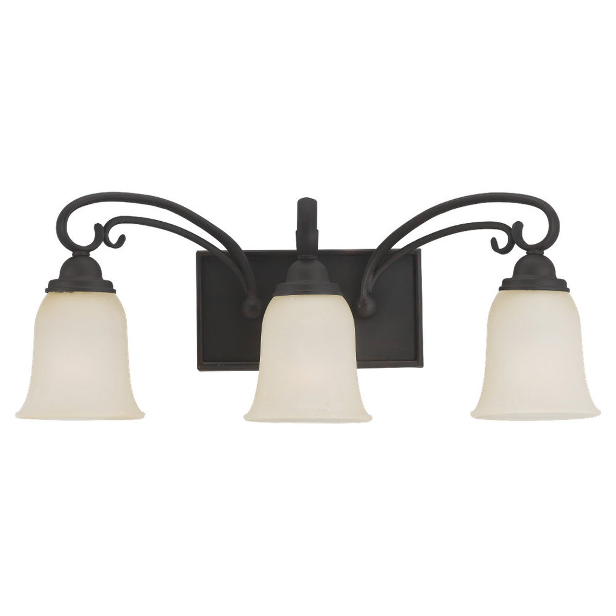 Sea Gull Lighting Del Prato 3 Light Wall / Bath / Vanity in Misted Bronze 44123-814