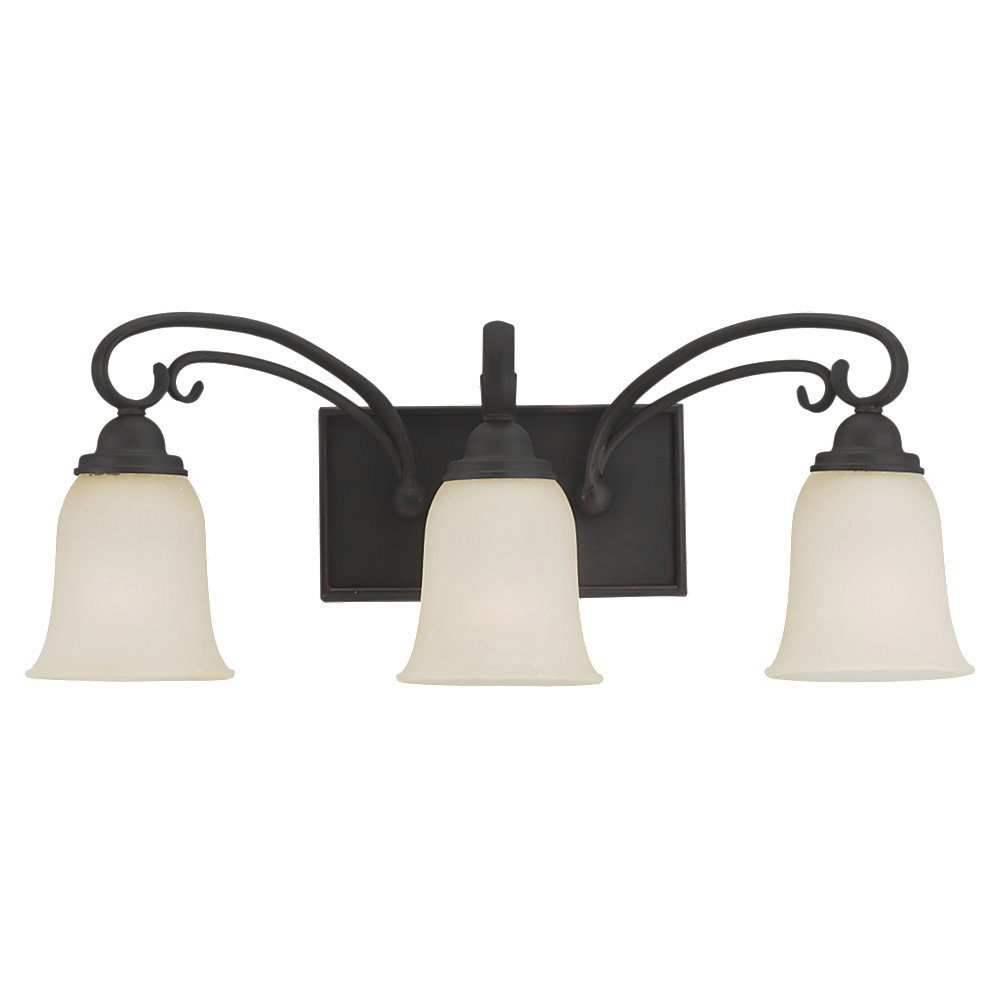 Sea Gull Lighting Del Prato 3 Light Bath Vanity in Chestnut Bronze 44123-820