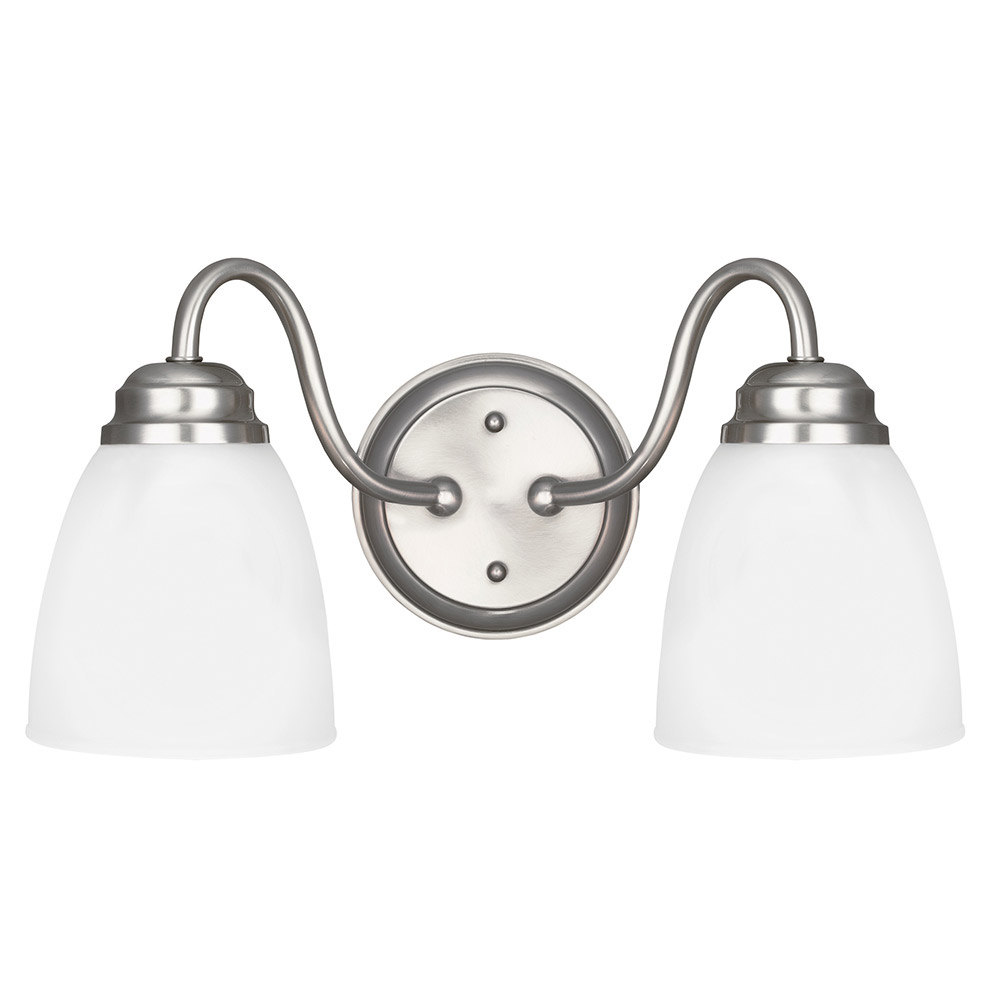Sea Gull Northbrook 2 Light Bath Vanity in Brushed Nickel 4412402BLE-962