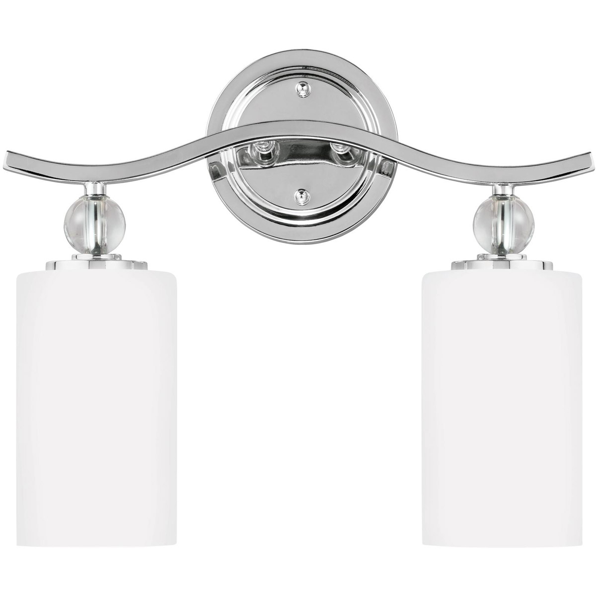 Sea Gull Englehorn 2 Light Bath Vanity in Chrome / Optic Crystal 4413402-05