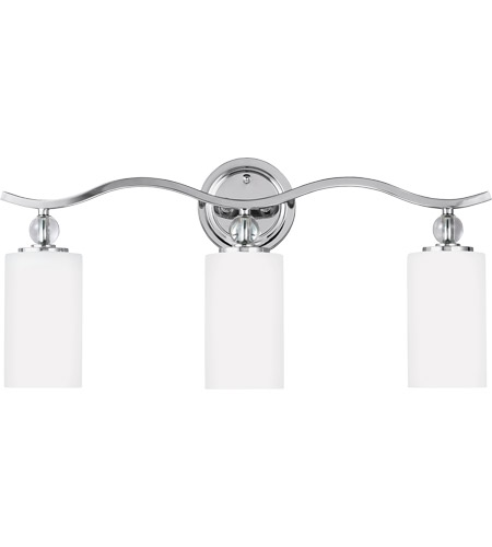 Sea Gull Englehorn 3 Light Bath Vanity in Chrome / Optic Crystal 4413403-05