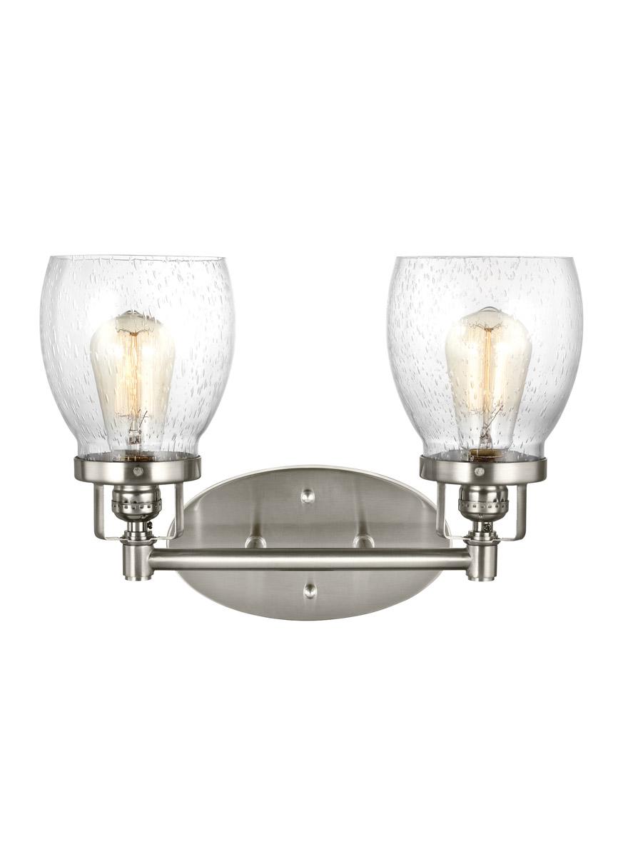 Sea Gull Belton Light Inch Brushed Nickel Bath - Seagull bathroom lighting