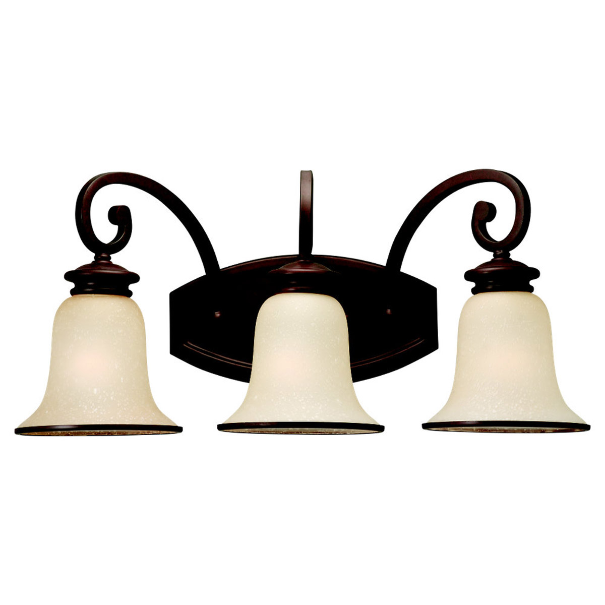 Sea Gull Lighting Acadia 3 Light Bath Vanity in Misted Bronze 44146-814
