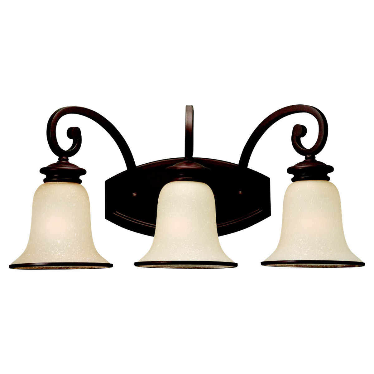 Sea Gull Lighting Acadia 3 Light Bath Vanity in Misted Bronze 44146BLE-814