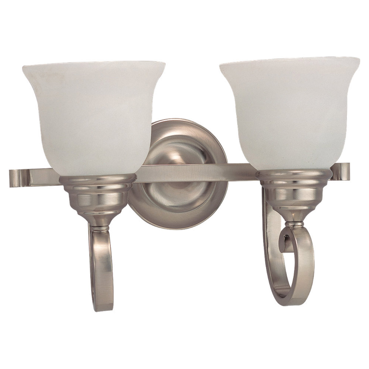 Sea Gull Lighting Serenity 2 Light Bath Vanity in Brushed Nickel 44190-962