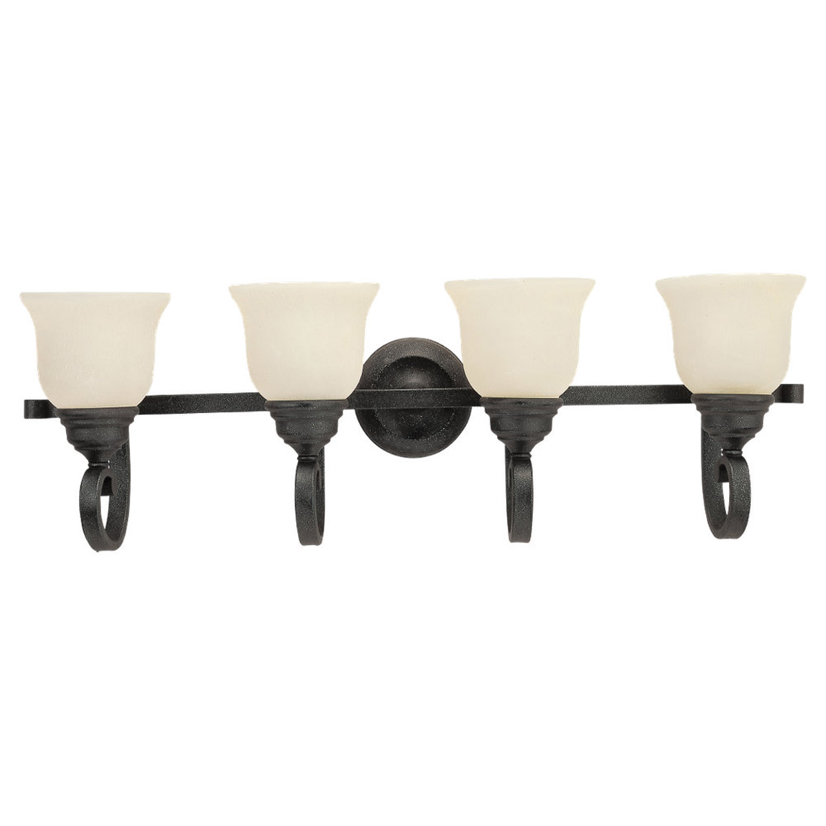 Sea Gull Lighting Serenity 4 Light Bath Vanity in Weathered Iron 44192-07