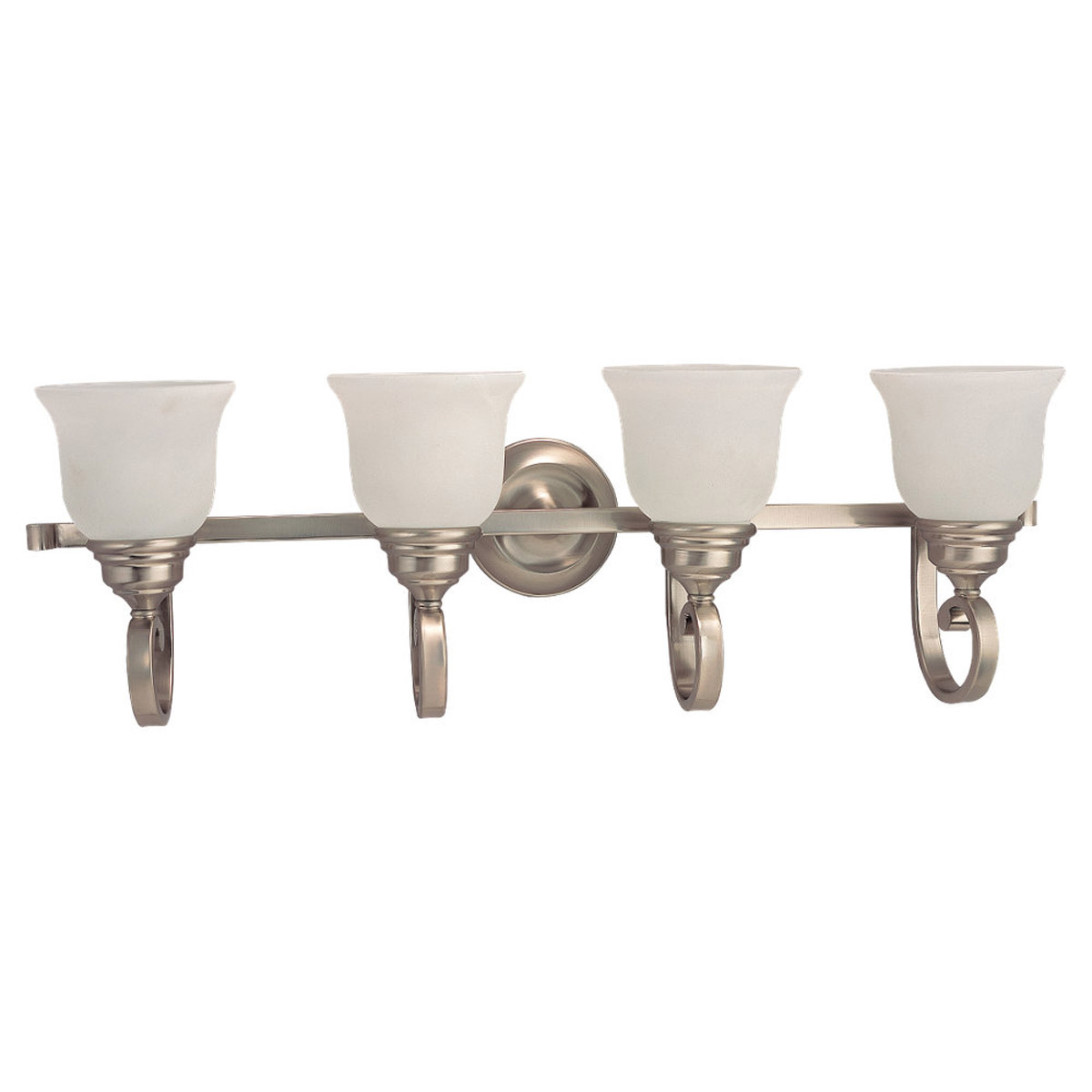 Sea Gull Lighting Serenity 4 Light Bath Vanity in Brushed Nickel 44192-962