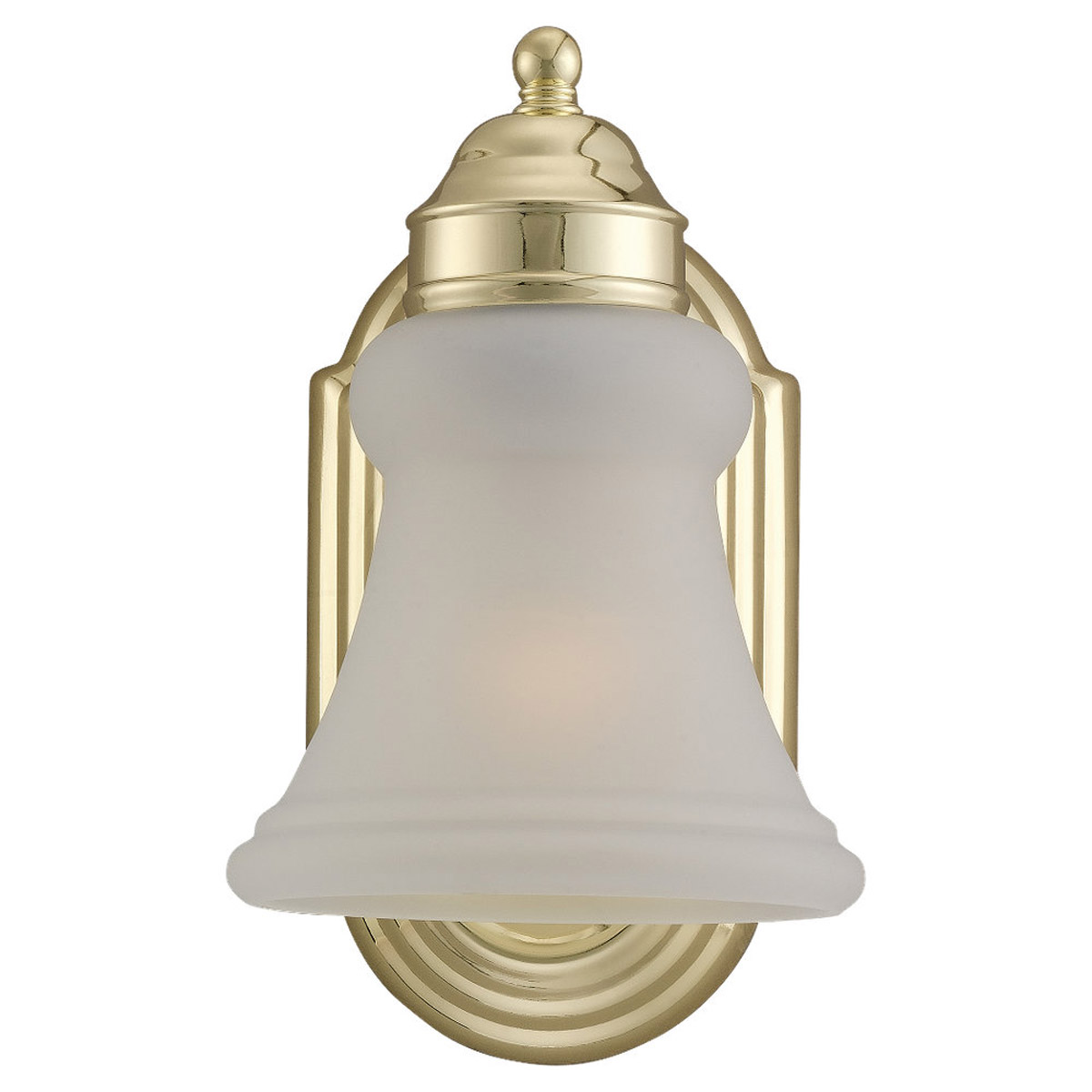 Sea Gull Lighting Evansville 1 Light Wall / Bath / Vanity in Polished Brass 44225-02 photo
