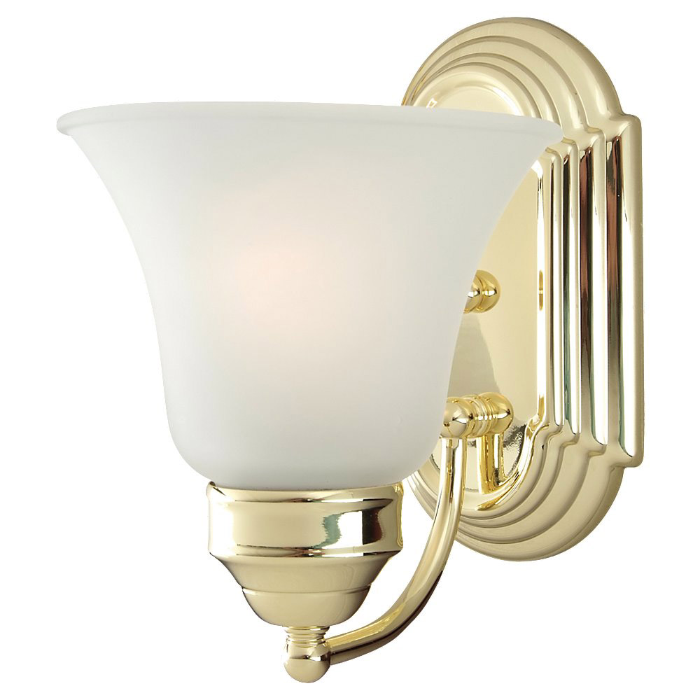 Sea Gull Lighting Linwood 1 Light Bath Vanity in Polished Brass 44235-02 photo