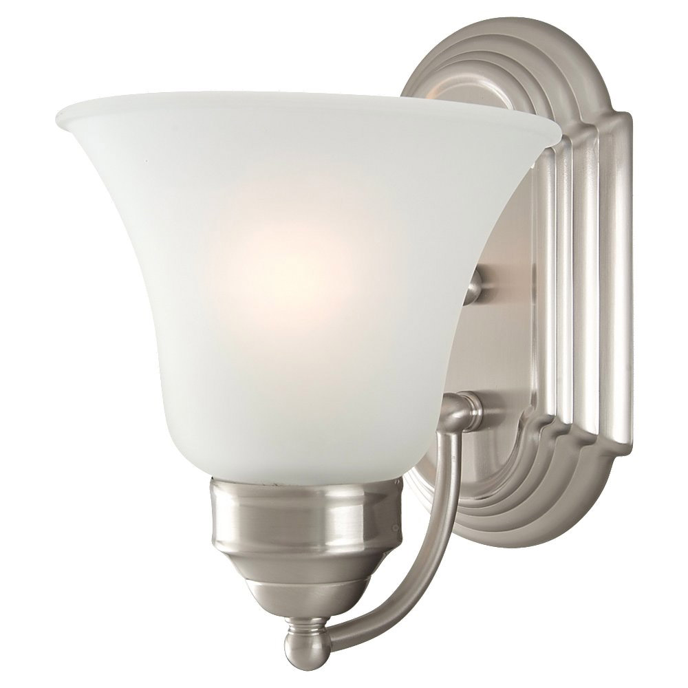 Sea Gull Lighting Linwood 1 Light Bath Vanity in Brushed Nickel 44235-962