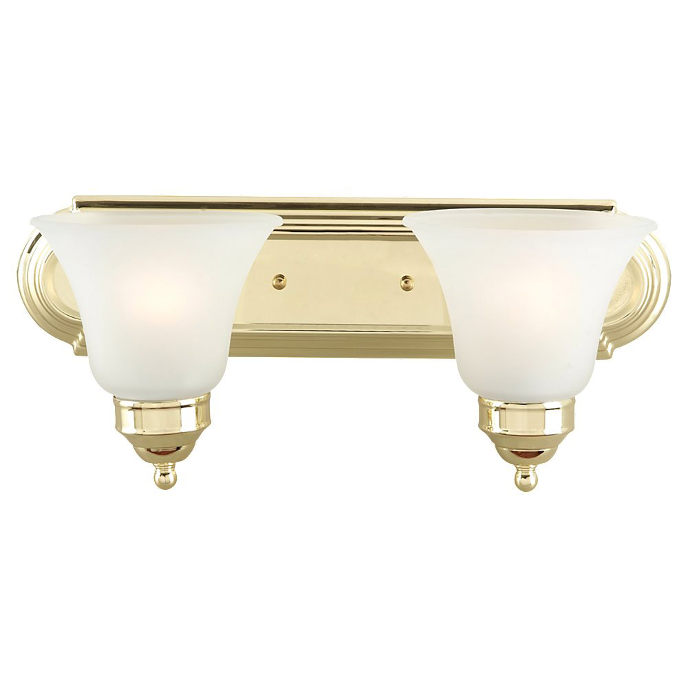Sea Gull Lighting Linwood 2 Light Bath Vanity in Polished Brass 44236-02