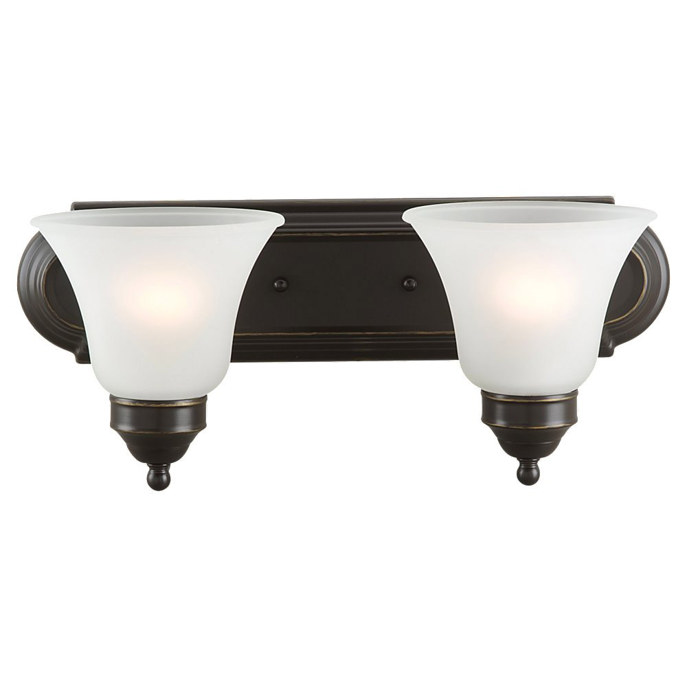 Sea Gull Lighting Linwood 2 Light Bath Vanity in Heirloom Bronze 44236-782
