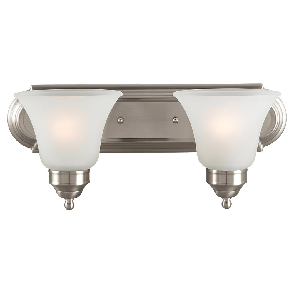 Sea Gull Lighting Linwood 2 Light Bath Vanity in Brushed Nickel 44236-962