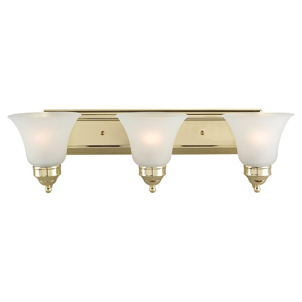 Sea Gull Lighting Linwood 3 Light Bath Vanity in Polished Brass 44237-02 photo