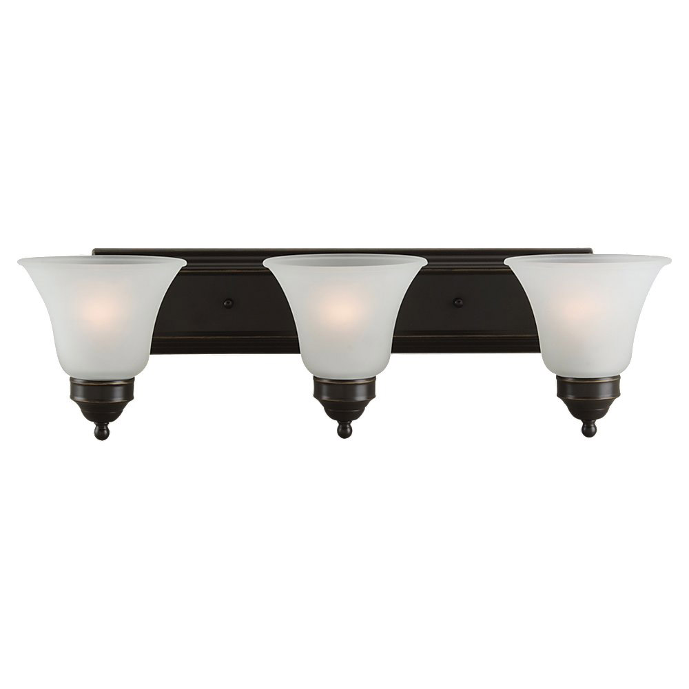 Sea Gull Lighting Linwood 3 Light Bath Vanity in Heirloom Bronze 44237-782
