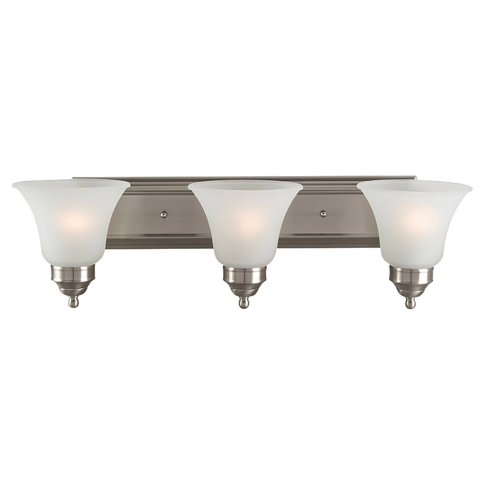 Sea Gull Lighting Linwood 3 Light Bath Vanity in Brushed Nickel 44237-962
