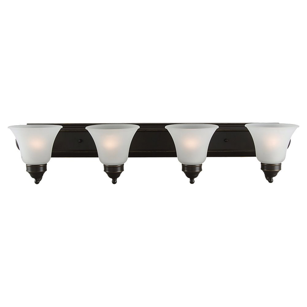 Sea Gull Lighting Linwood 4 Light Bath Vanity in Heirloom Bronze 44238-782