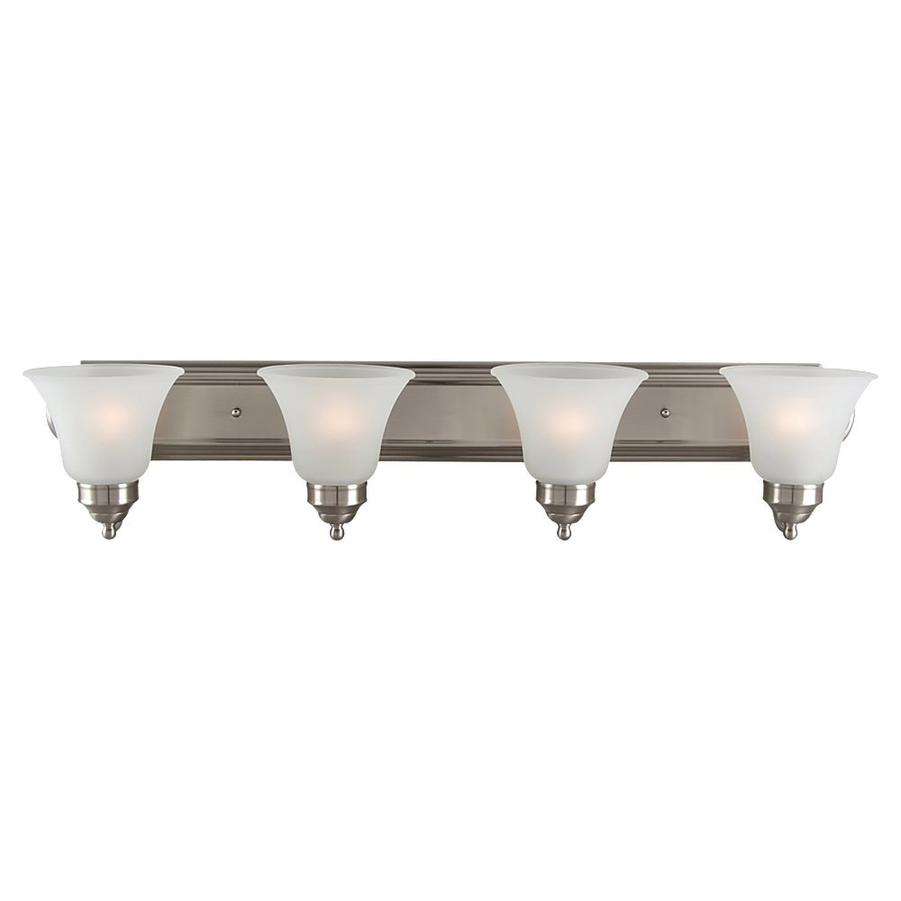 Sea Gull Lighting Linwood 4 Light Bath Vanity in Brushed Nickel 44238-962