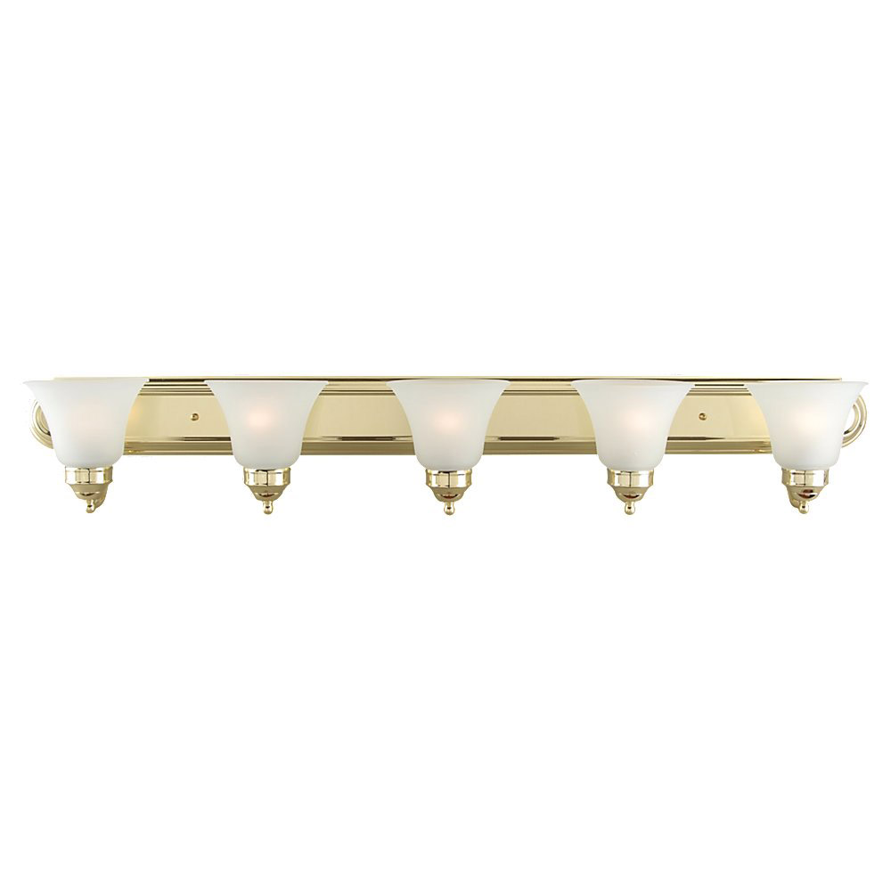 Sea Gull Lighting Linwood 5 Light Bath Vanity in Polished Brass 44239-02 photo