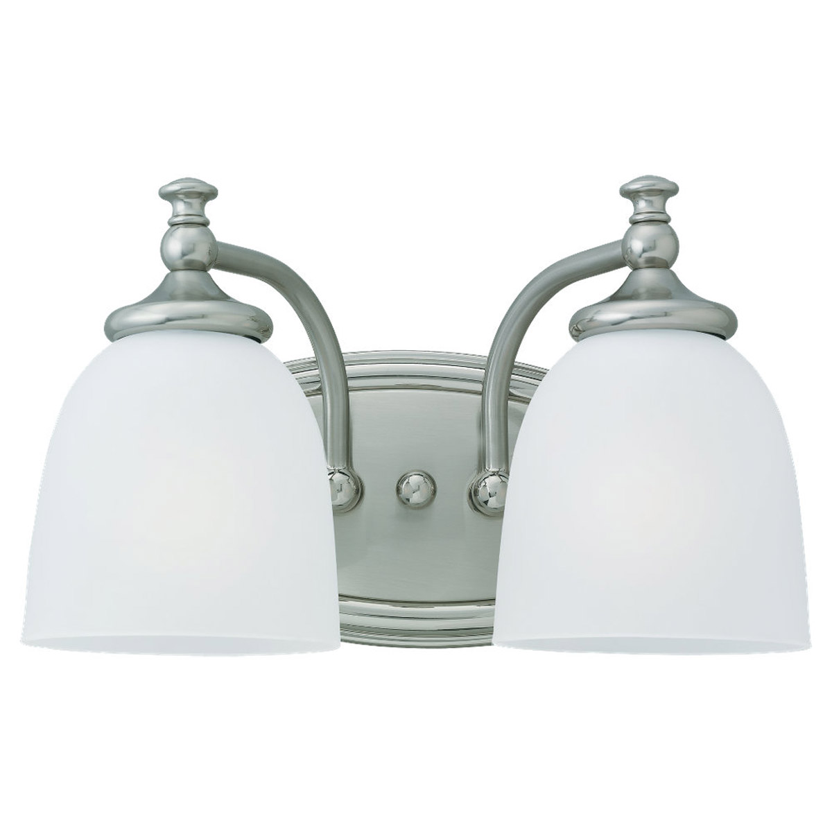 Sea Gull Lighting Colonnade 2 Light Wall / Bath / Vanity in Two Tone Nickel 44276-773