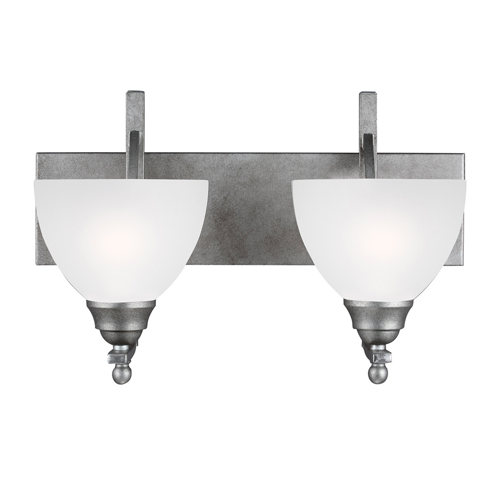Sea Gull 4431402BLE-57 Vitelli 2 Light 19 inch Weathered Pewter Bath Vanity Wall Light in Fluorescent photo