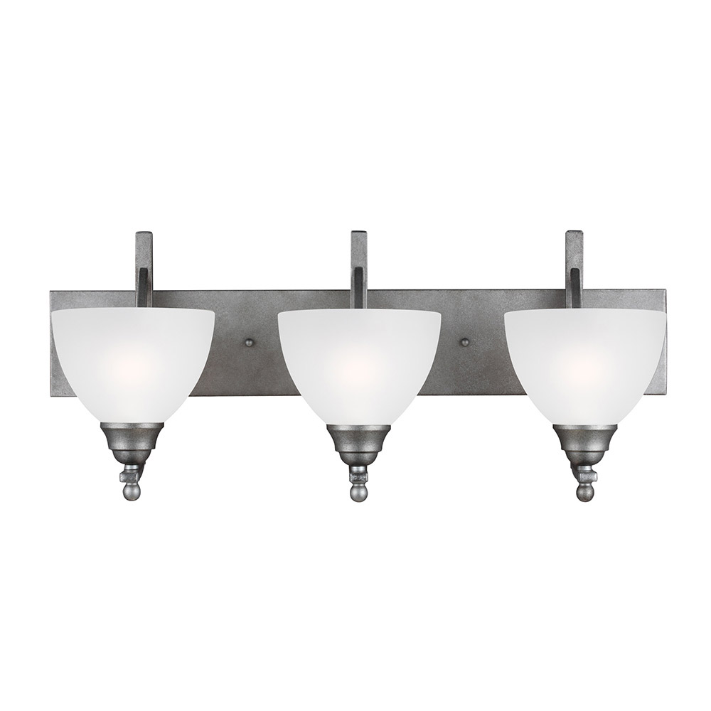 Sea Gull Vitelli 3 Light Bath Vanity in Weathered Pewter 4431403BLE-57