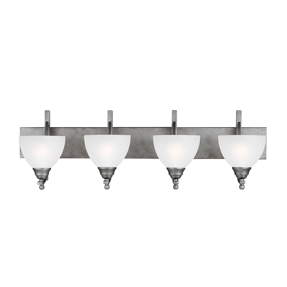 Sea Gull 4431404-57 Vitelli 4 Light 38 inch Weathered Pewter Bath Vanity Wall Light in Standard photo