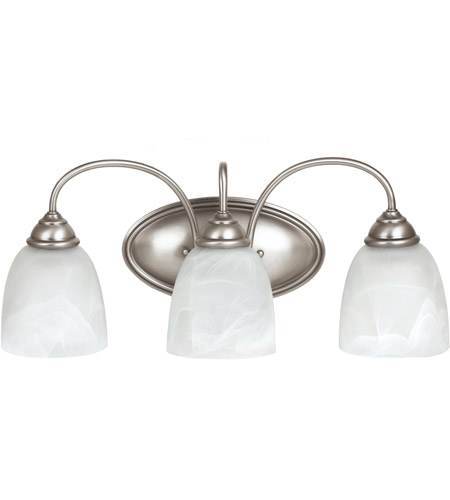 Sea Gull Lemont 3 Light Bath Light in Antique Brushed Nickel 44318-965