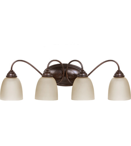 Sea Gull 44319-710 Lemont 4 Light 29 inch Burnt Sienna Bath Light Wall Light in Standard photo