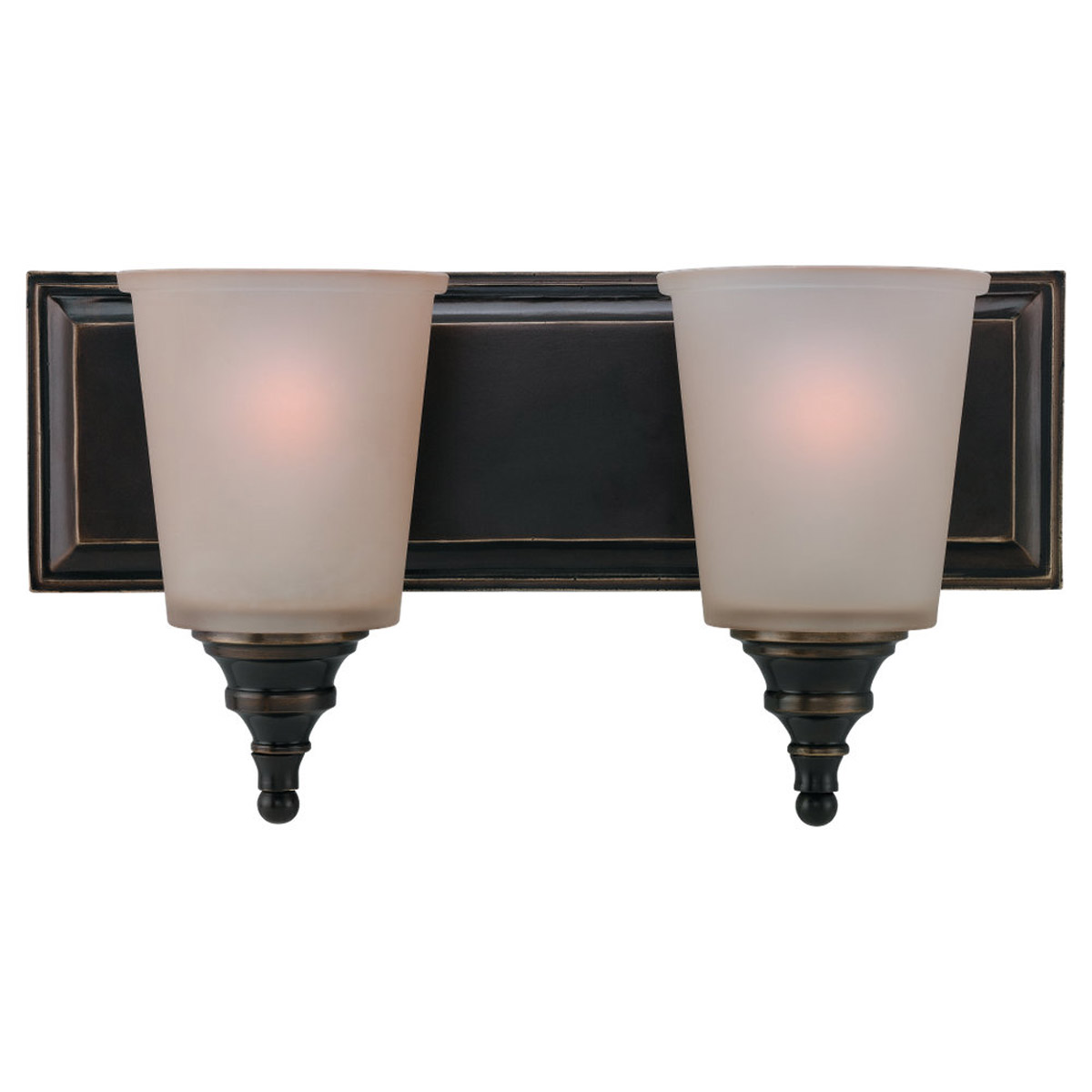 Sea Gull Lighting Warwick 2 Light Bath Vanity in Vintage Bronze 44330-825 photo