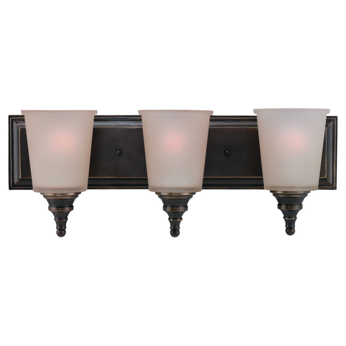 Sea Gull Lighting Warwick 3 Light Bath Vanity in Vintage Bronze 44331-825