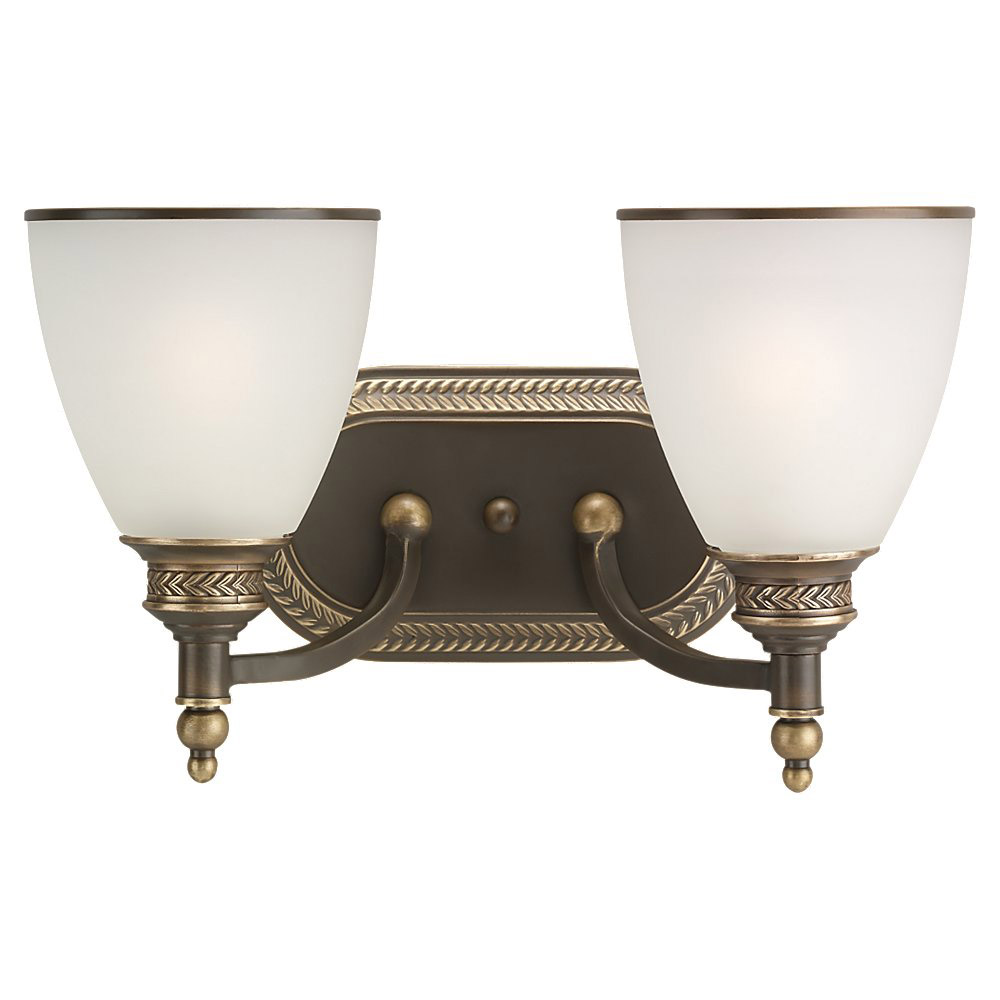 Sea Gull Lighting Laurel Leaf 2 Light Bath Vanity in Estate Bronze 44350-708