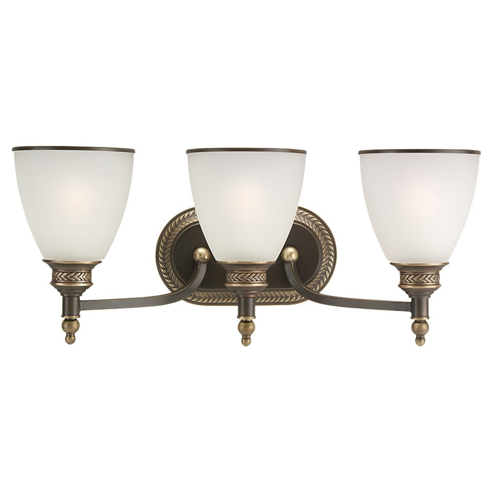 Sea Gull Lighting Laurel Leaf 3 Light Bath Vanity in Estate Bronze 44351-708