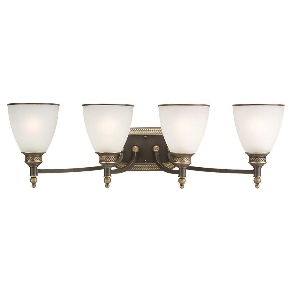 Sea Gull Lighting Laurel Leaf 4 Light Bath Vanity in Estate Bronze 44352-708