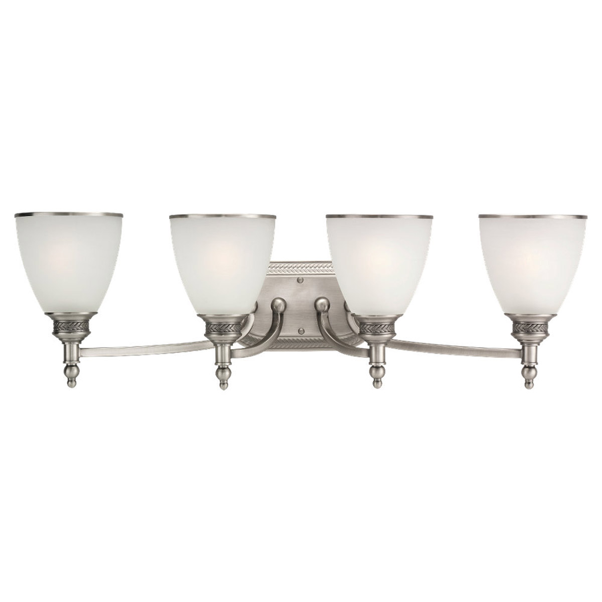 Sea Gull Lighting Laurel Leaf 4 Light Bath Vanity in Antique Brushed Nickel 44352-965