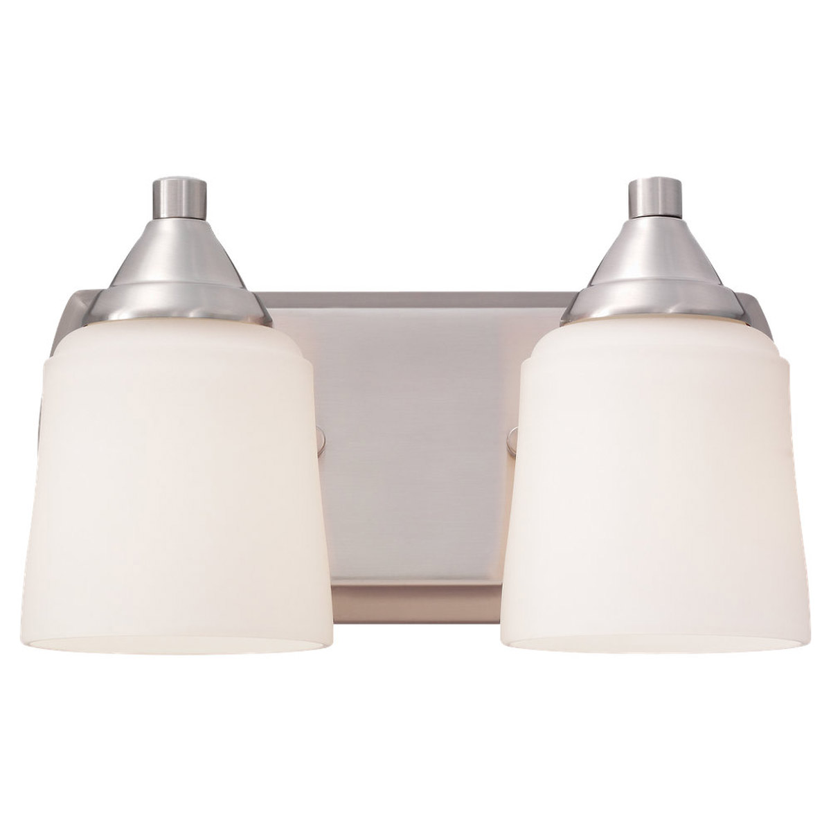 Sea Gull Lighting Brisbane 2 Light Wall / Bath / Vanity in Brushed Nickel 44356-962 photo