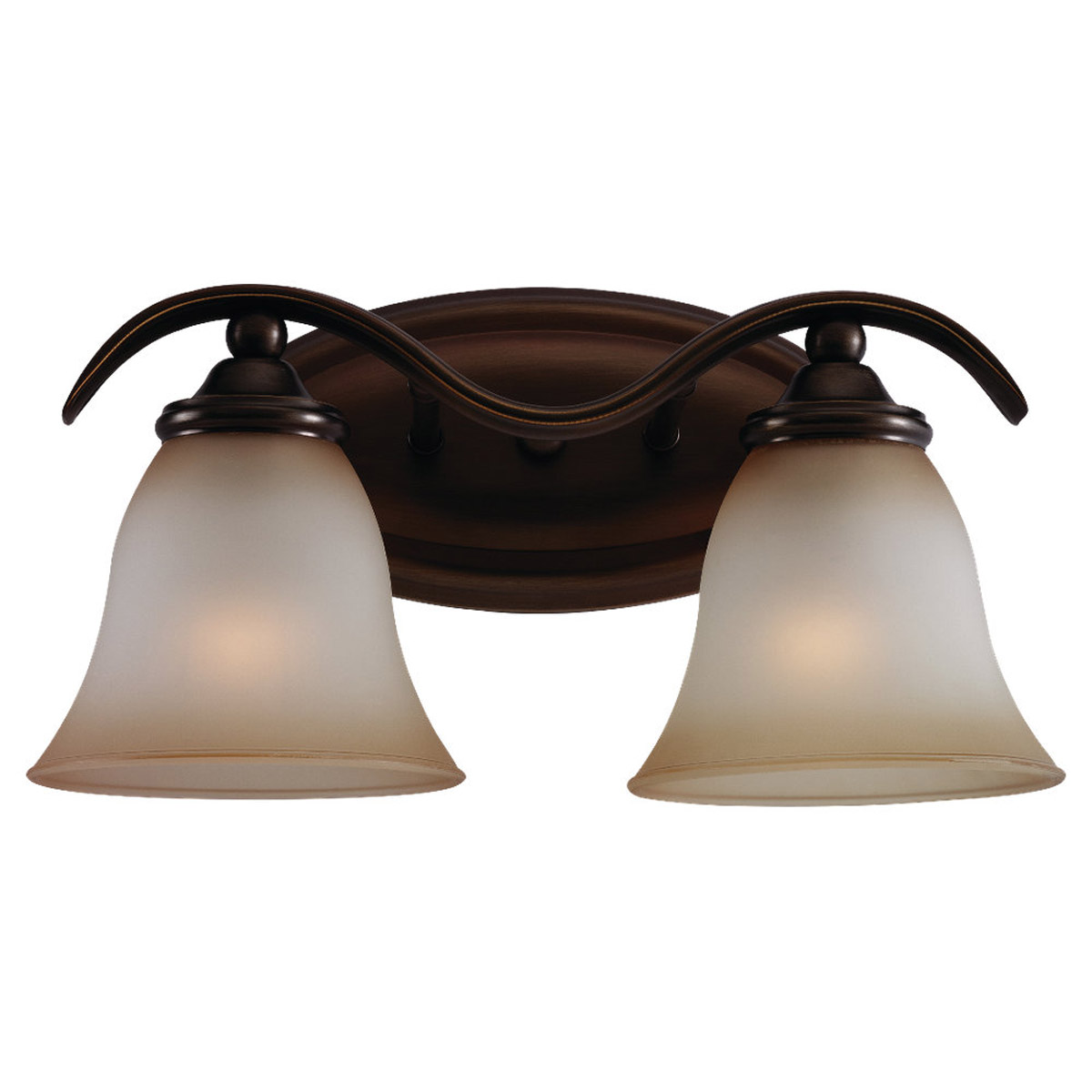 Sea Gull Lighting Rialto 2 Light Bath Vanity in Russet Bronze 44360-829