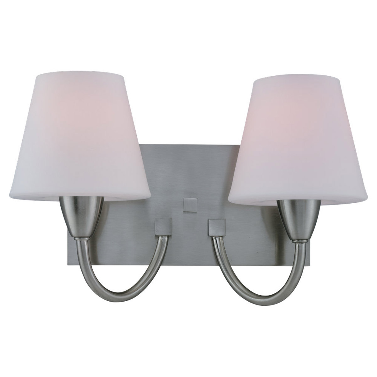 Sea Gull Lighting Stockholm 2 Light Fluorescent Wall/Bath/Vanity in Brushed Nickel 44385BLE-962