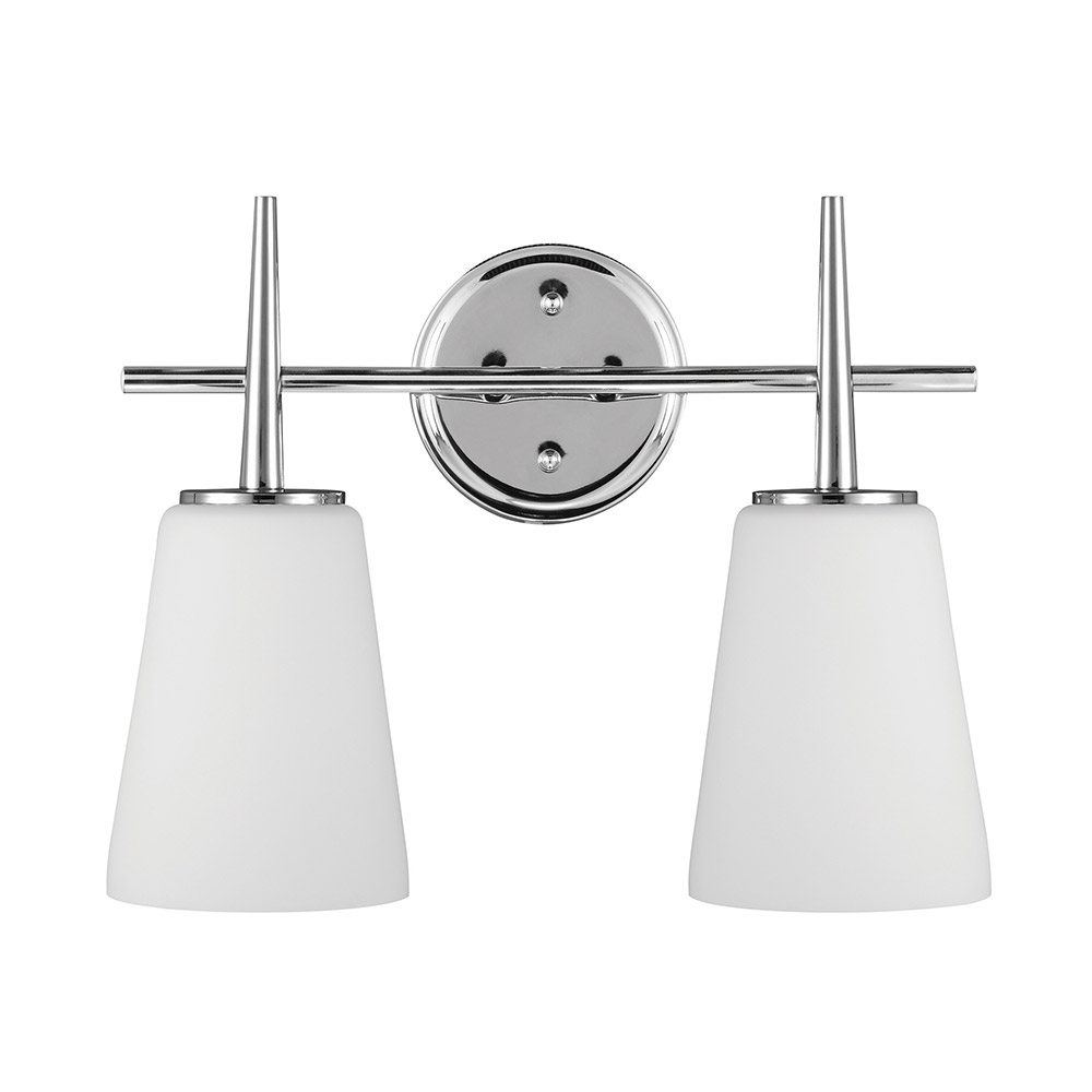 Sea Gull 4440402BLE-05 Driscoll 2 Light 16 inch Chrome Bath Vanity Wall Light in Fluorescent photo