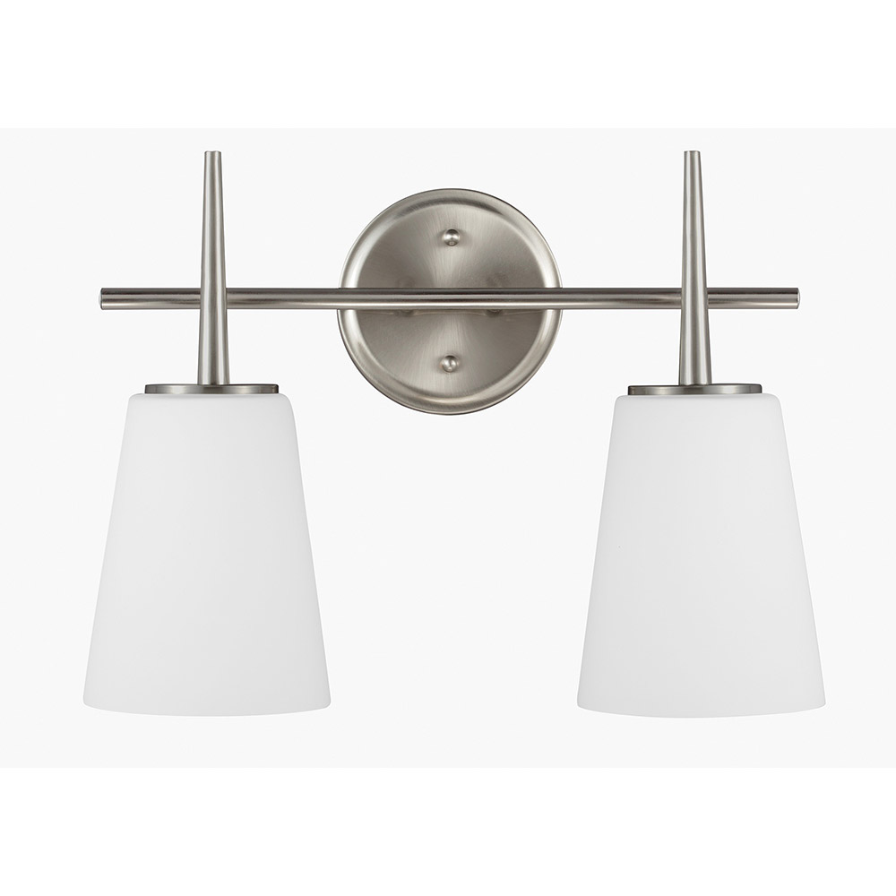 Sea Gull Driscoll 2 Light Bath Vanity in Brushed Nickel 4440402-962