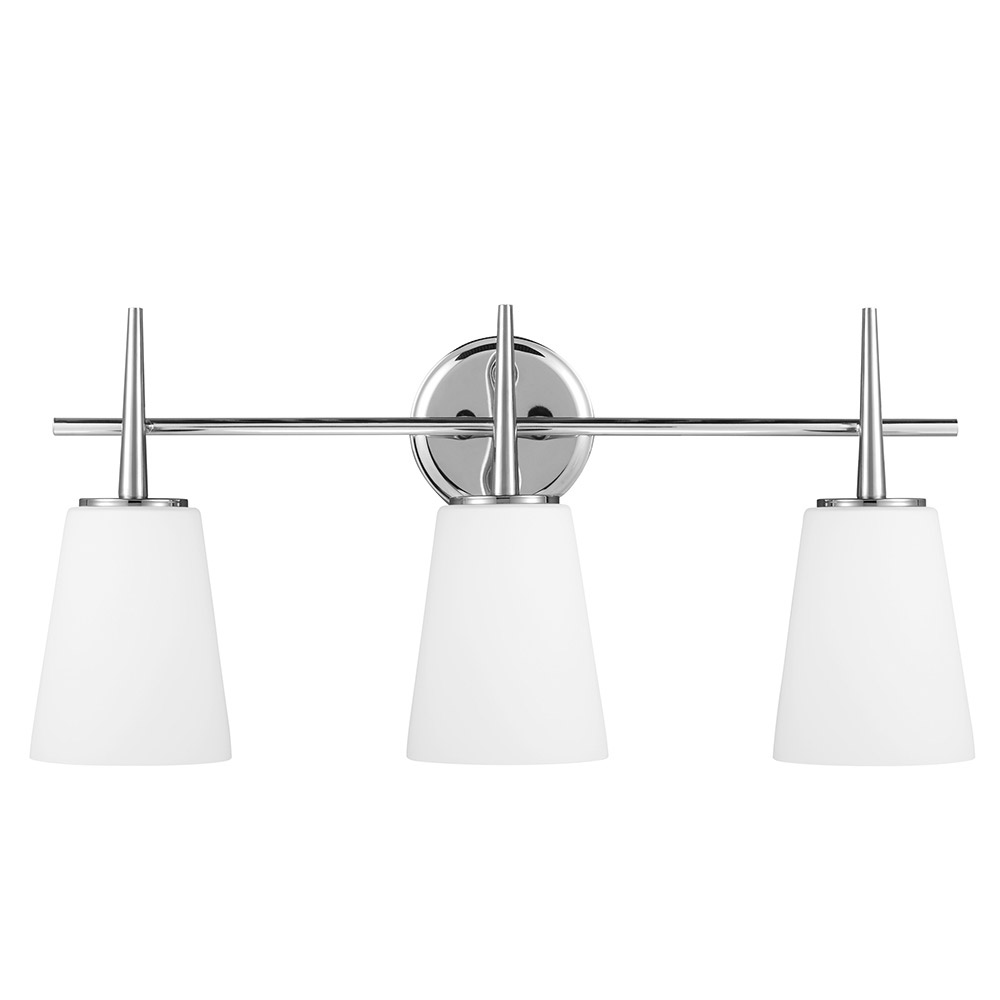 Sea Gull 4440403BLE-05 Driscoll 3 Light 25 inch Chrome Bath Vanity Wall Light in Fluorescent photo