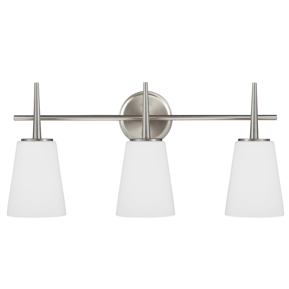 Sea Gull Driscoll 3 Light Bath Vanity in Brushed Nickel 4440403-962