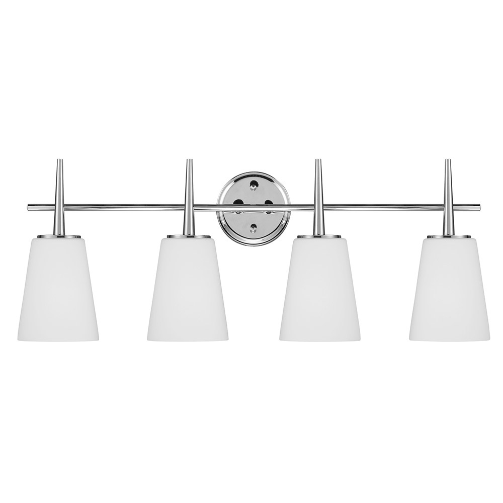 Sea Gull 4440404BLE-05 Driscoll 4 Light 31 inch Chrome Bath Vanity Wall Light in Fluorescent photo