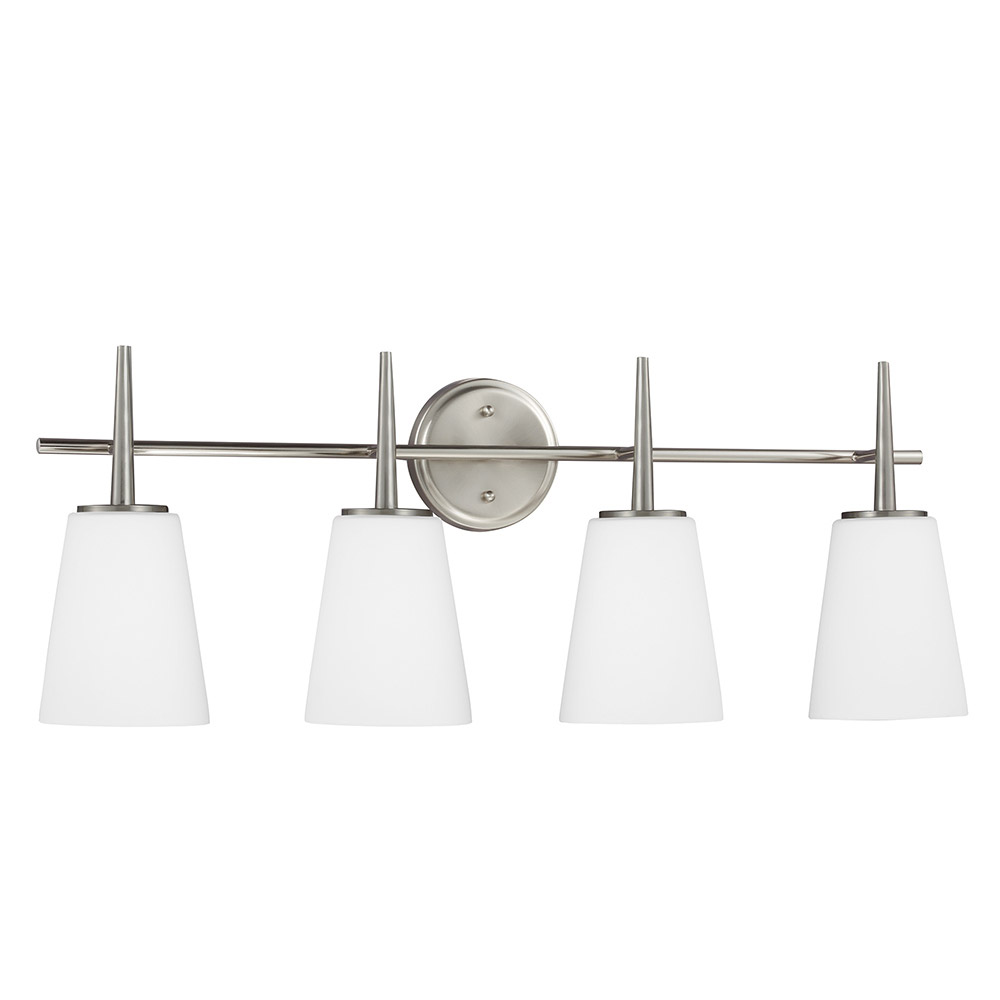 Sea Gull 4440404-962 Driscoll 4 Light 31 inch Brushed Nickel Bath Vanity Wall Light in Standard photo