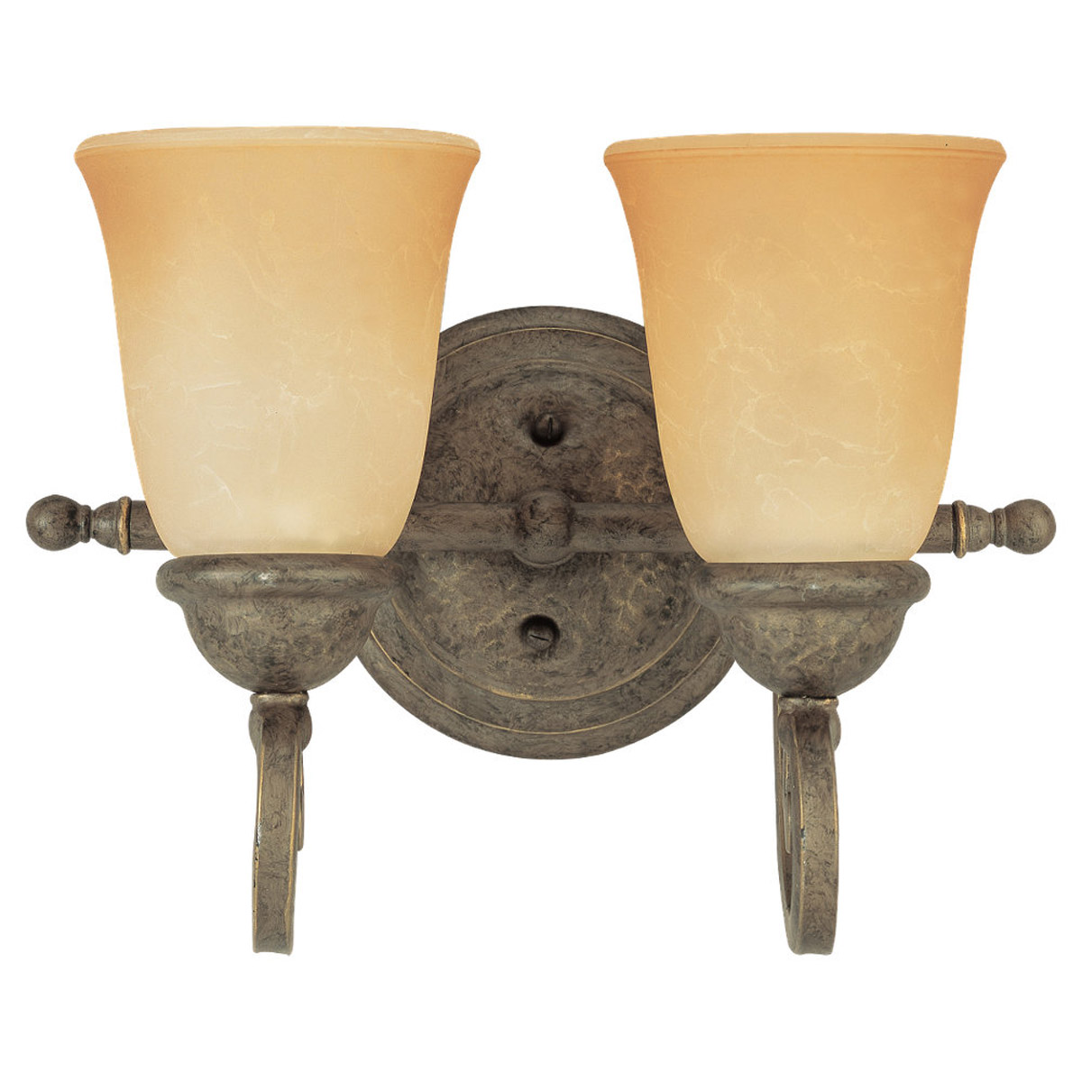 Sea Gull Lighting Brandywine 2 Light Bath Vanity in Antique Bronze 44430-71