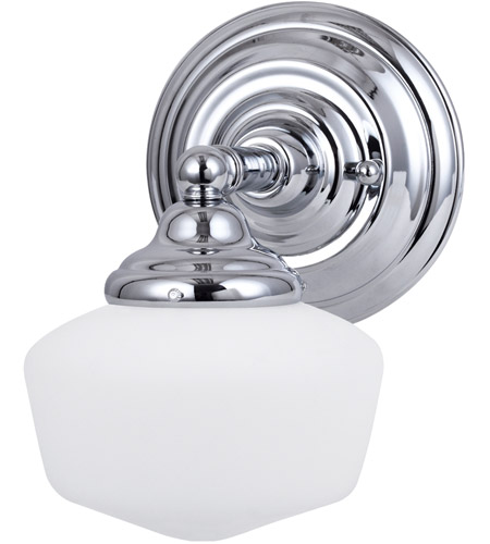 Sea Gull Academy 1 Light Wall Sconce in Chrome 44436BLE-05