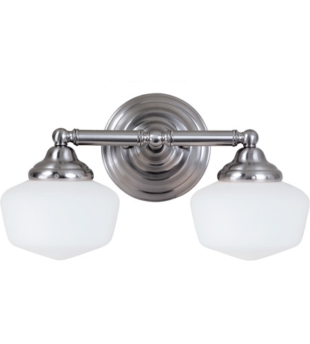 Sea Gull 44437-962 Academy 2 Light 17 inch Brushed Nickel Bath Light Wall Light in Standard photo